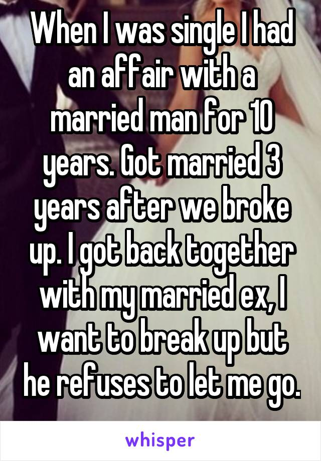 Letting Go Of An Affair With A Married Man