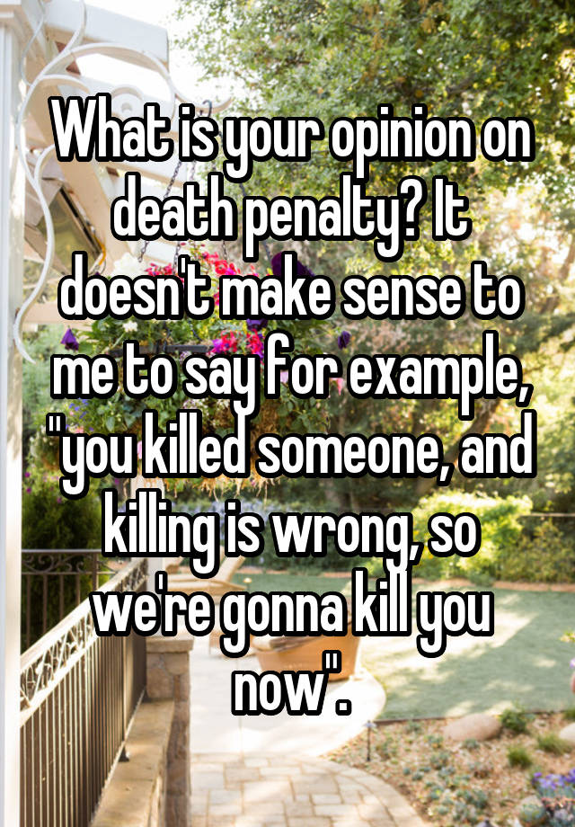 death penalty killing is wrong
