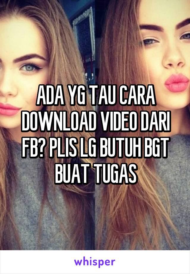 download video dari fb