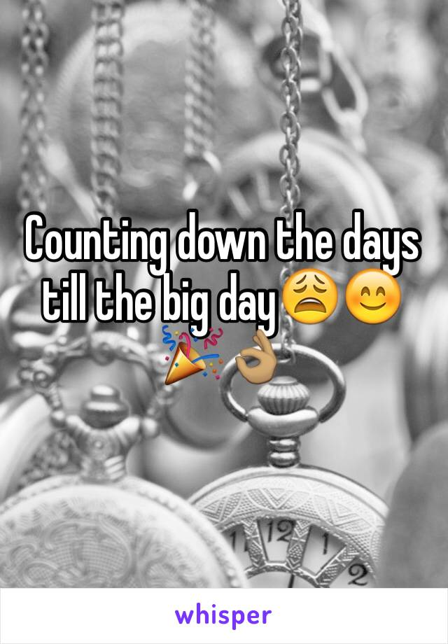 Counting down the days till the big day😩😊🎉👌🏽