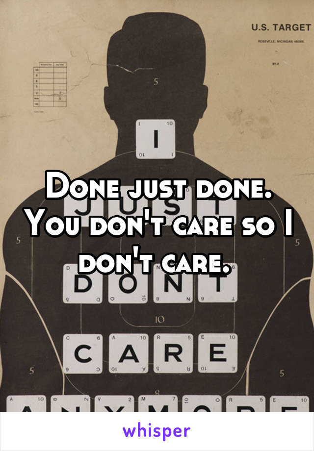 Done just done. You don't care so I don't care.