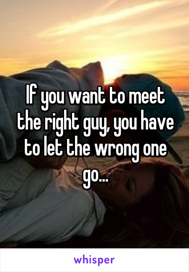 where to meet the right guy