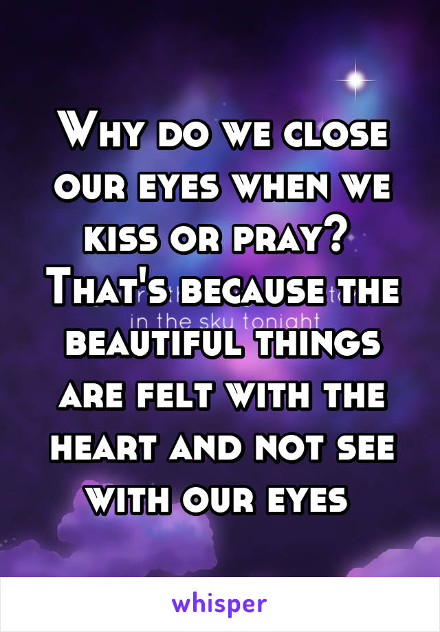 why do we kiss