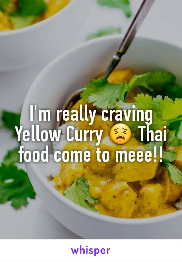I'm really craving Yellow Curry 😣 Thai food come to meee!!