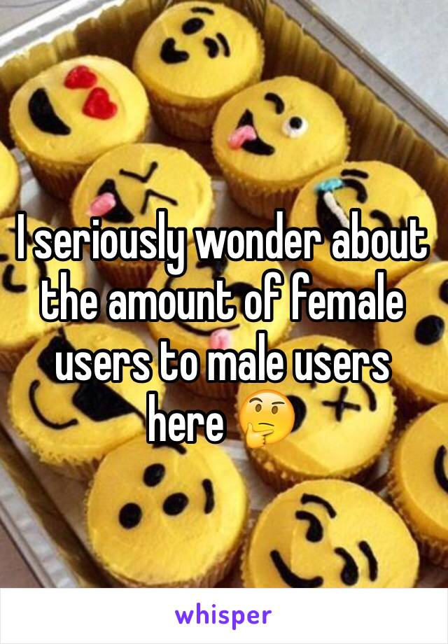 I seriously wonder about the amount of female users to male users here 🤔