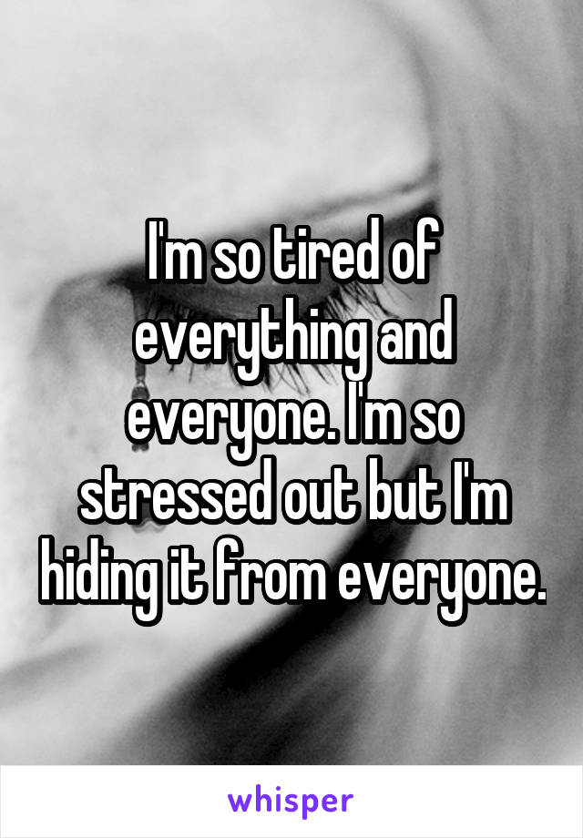 m so tired I