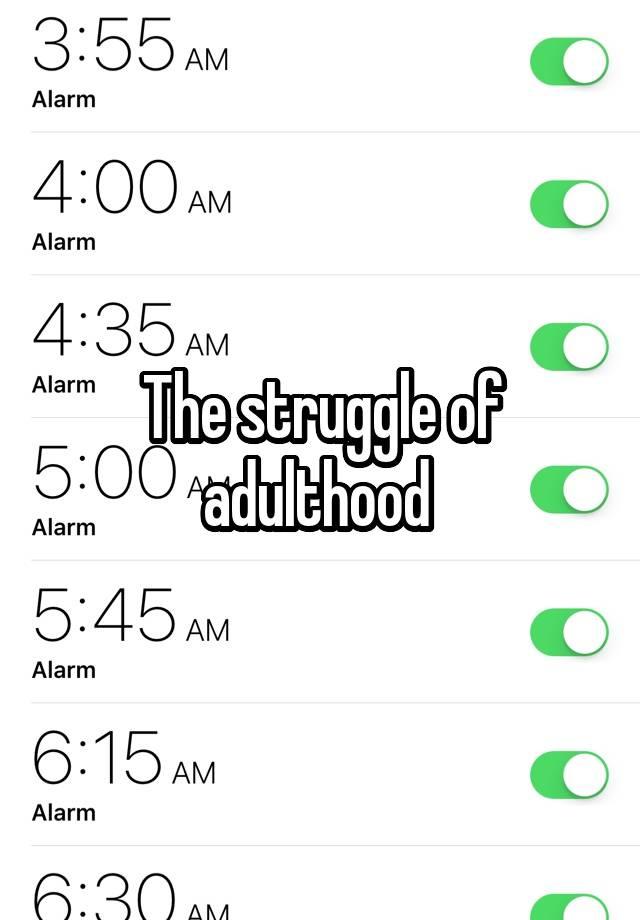 The struggle of adulthood