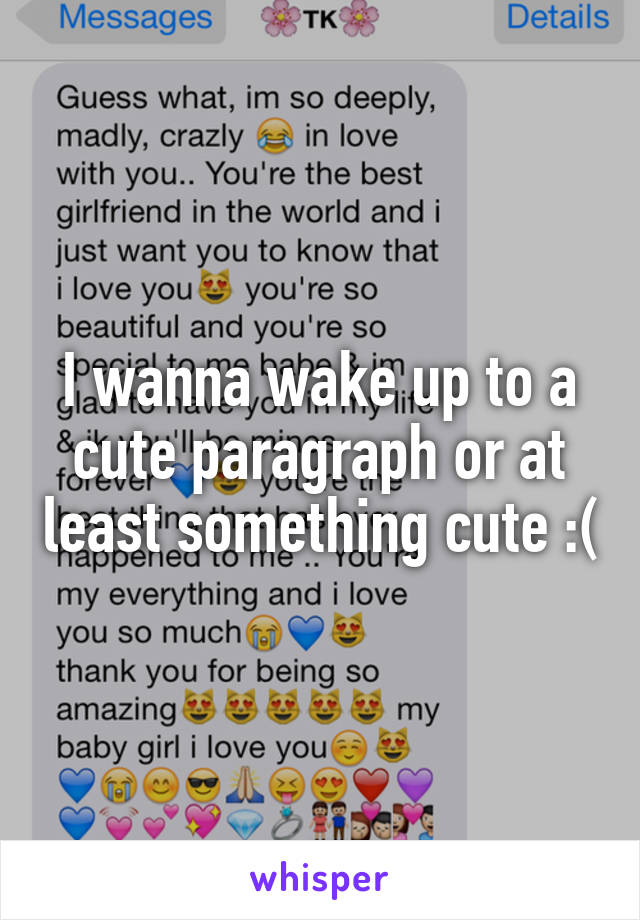 Cute paragraph for my girlfriend to wake up to