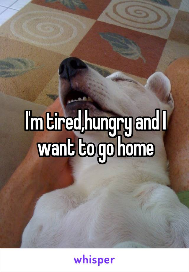 I'm tired,hungry and I want to go home