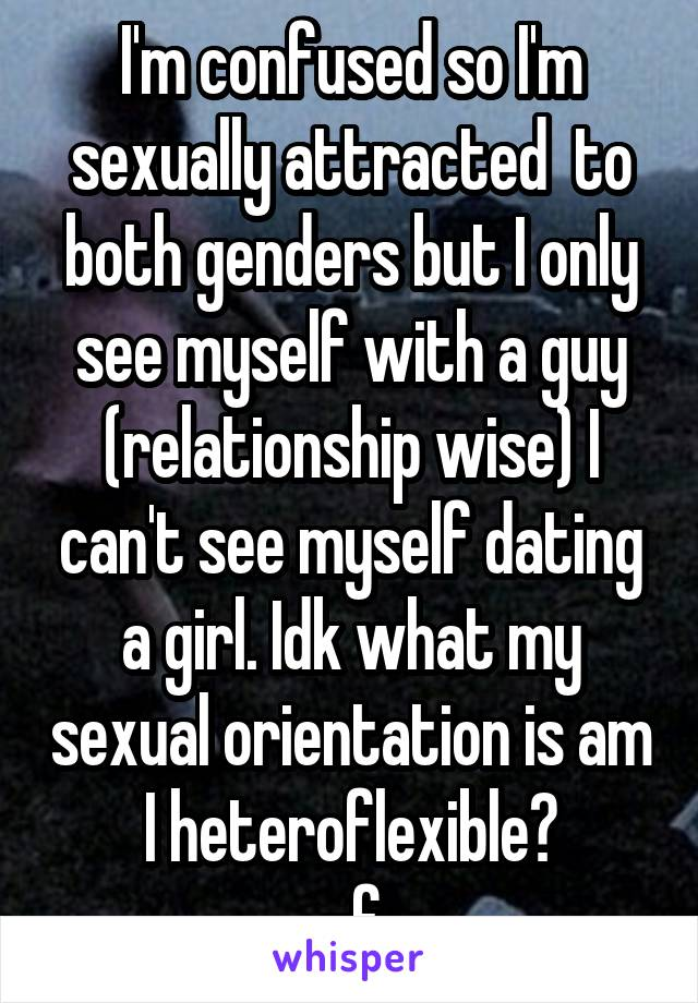Sexually attracted to both genders