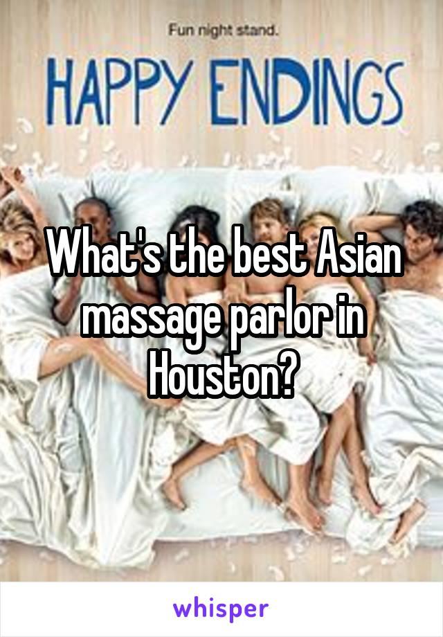 Houston massage with happy ending