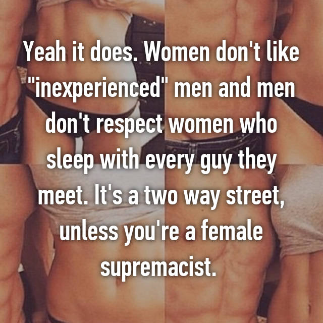 Do men like inexperienced women