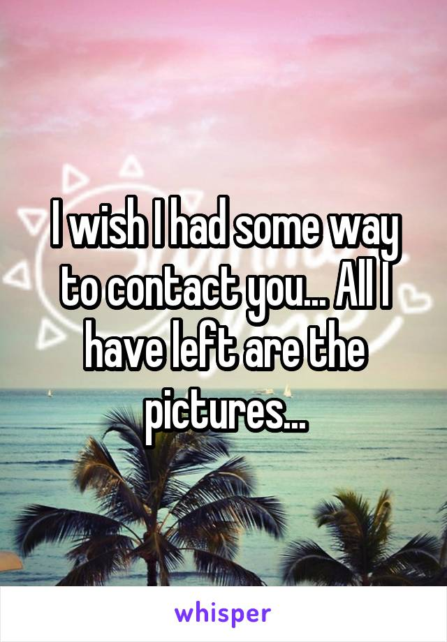 I wish I had some way to contact you... All I have left are the pictures...