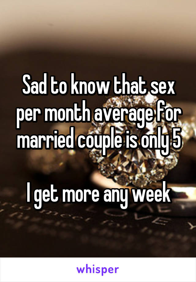 Average sex for married couples