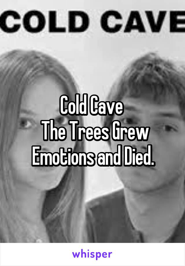 Cold Cave   The Trees Grew  Emotions and Died.