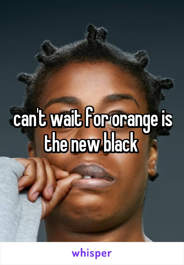 can't wait for orange is the new black