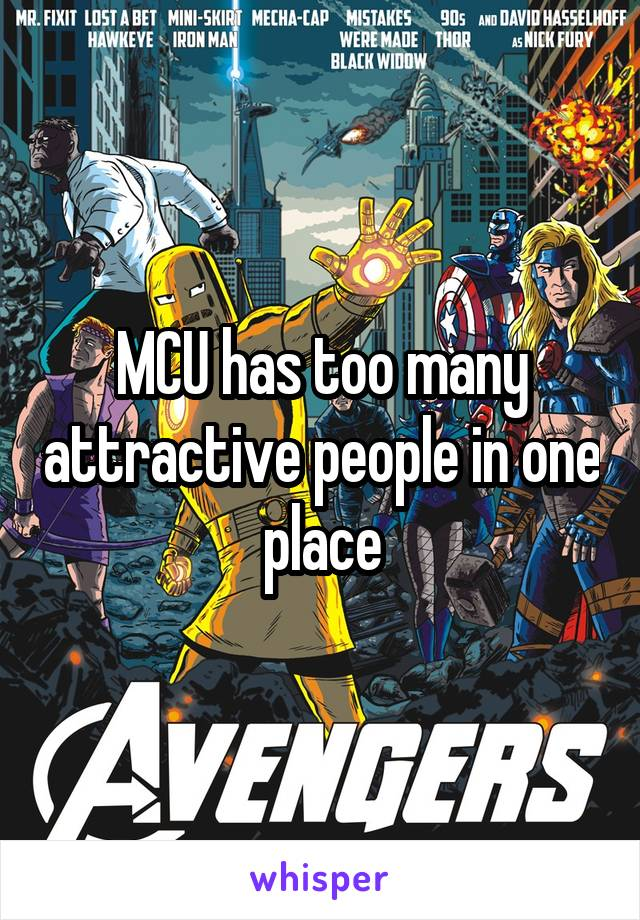 MCU has too many attractive people in one place