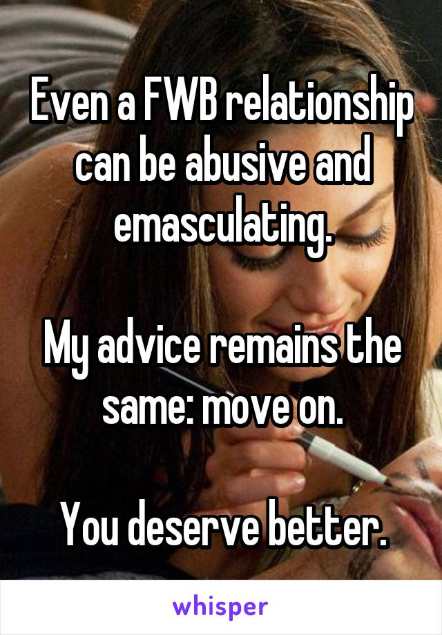 Fwb advice