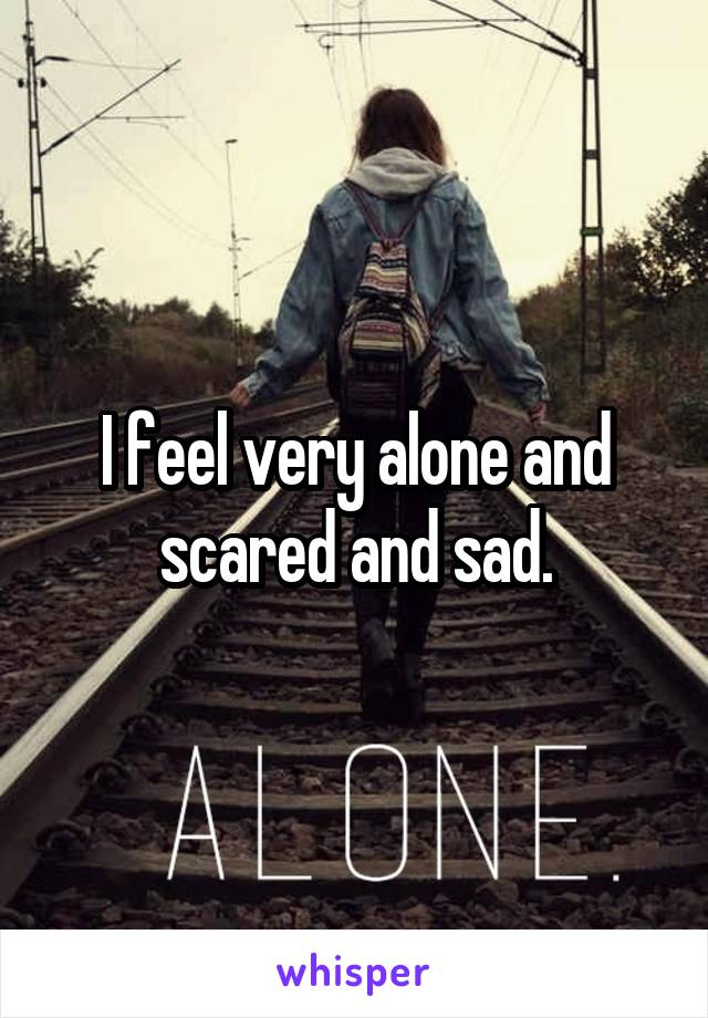 I feel very alone and scared and sad.