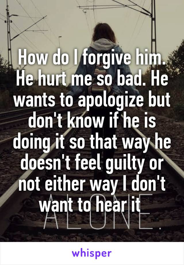 does my ex feel guilty for hurting me