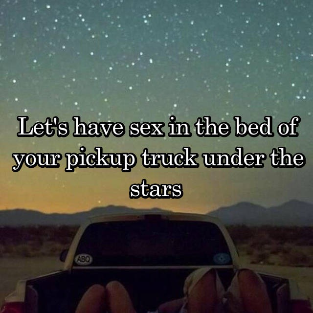 Congratulate, seems sex in a truck bed pictures