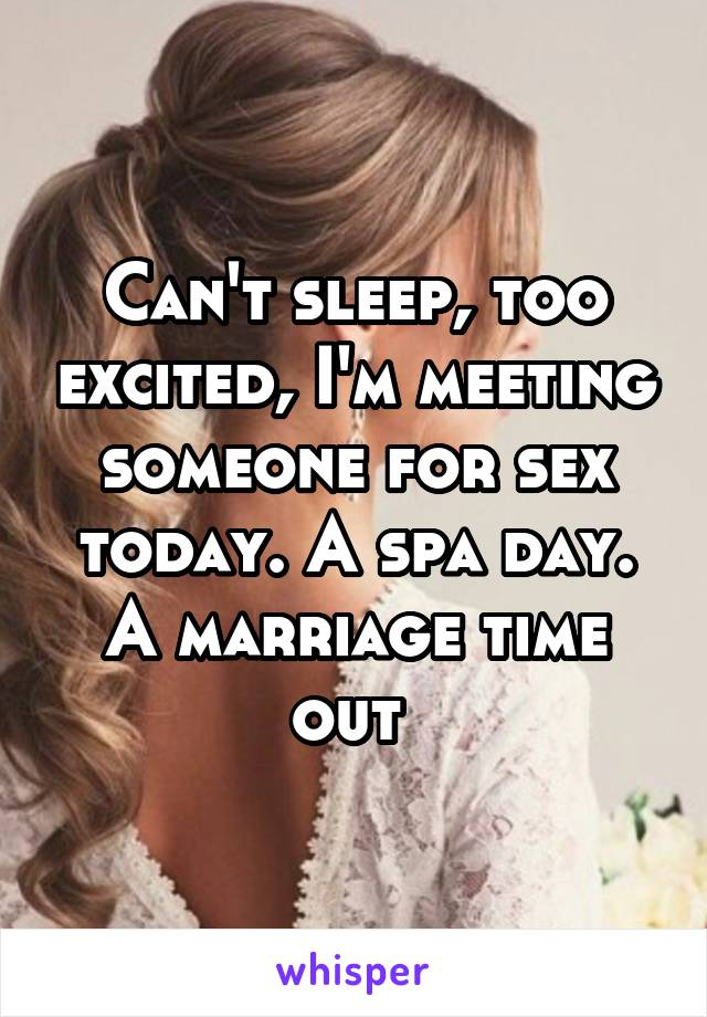 Meeting people for sex