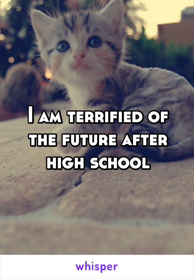 I am terrified of the future after high school
