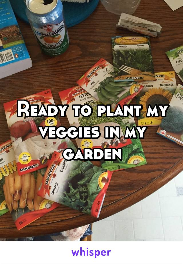 Ready to plant my veggies in my garden