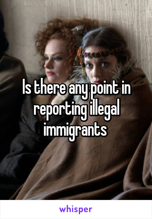 Is there any point in reporting illegal immigrants