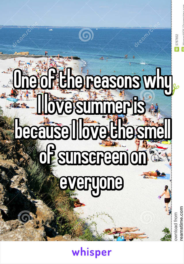 One of the reasons why I love summer is  because I love the smell of sunscreen on everyone