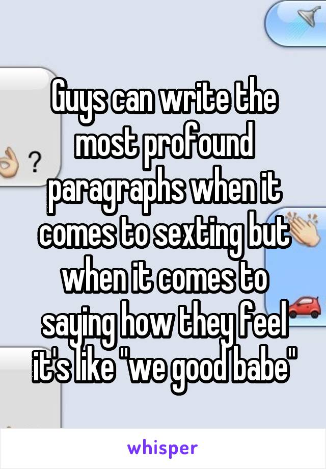 Sexting paragraph to a guy