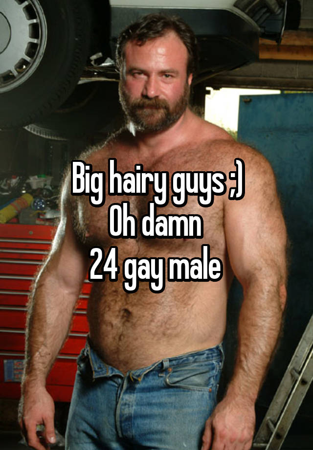 Hairy gay male
