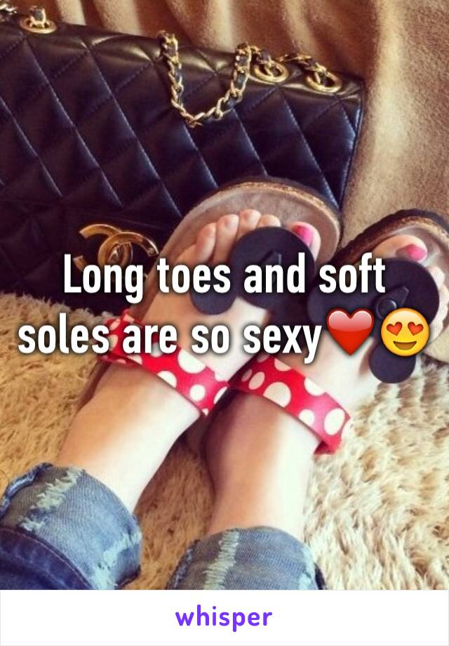 Long toes and soft soles are so sexy❤️😍