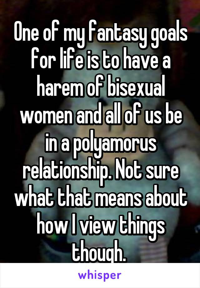 in Bisexual harem women