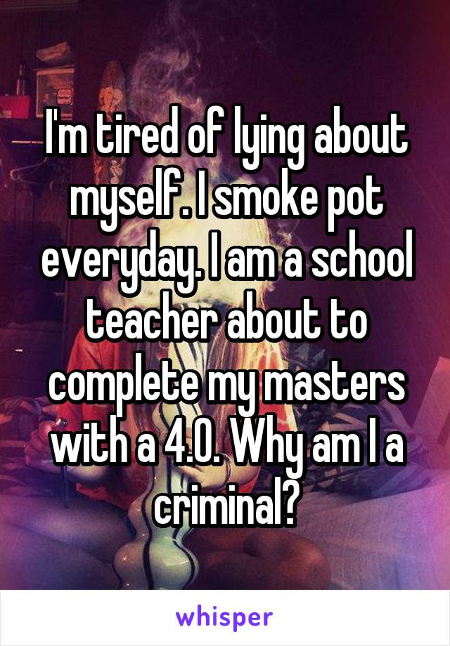 0533785bcab93766dacacb20199b84a873a809 v5 wm 19 Shocking Confessions From Teachers Who Smoke Weed