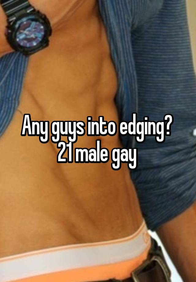 edging Gay each other men