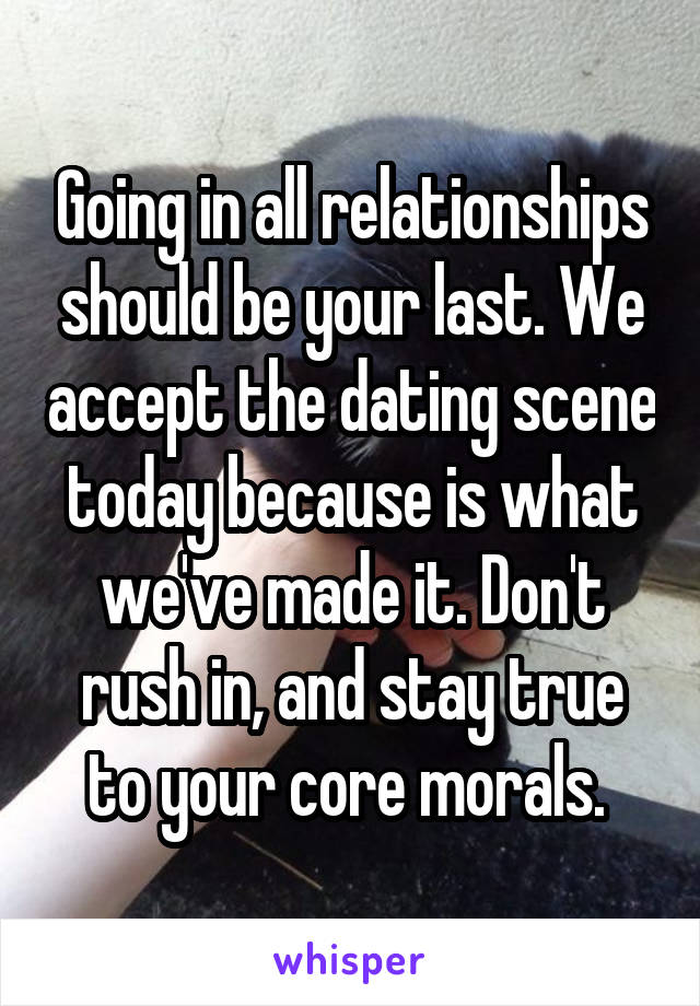 dont rush dating