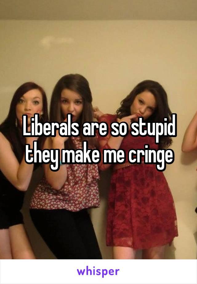 Liberals are so stupid they make me cringe