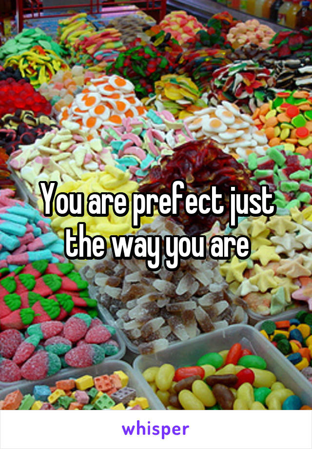 You are prefect just the way you are