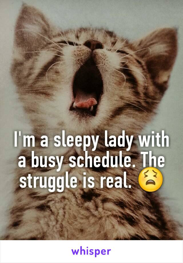 I'm a sleepy lady with a busy schedule. The struggle is real. 😫