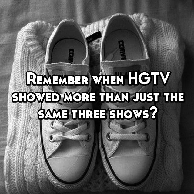 Remember when HGTV showed more than just the same three shows?