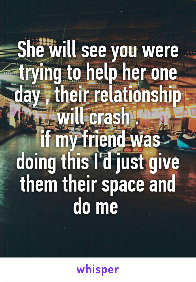 Does giving space help relationship