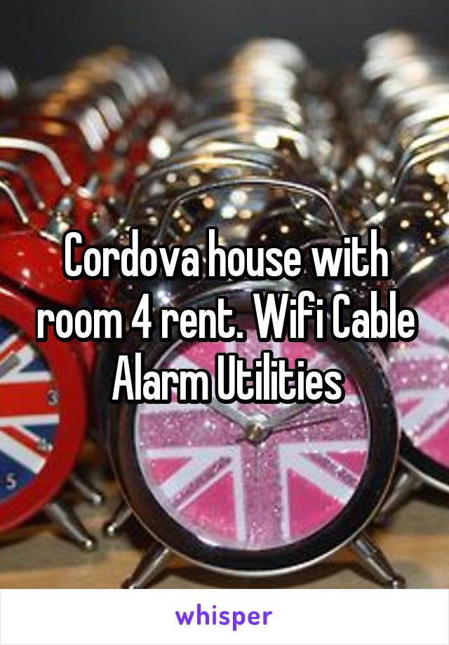 Cordova house with room 4 rent. Wifi Cable Alarm Utilities