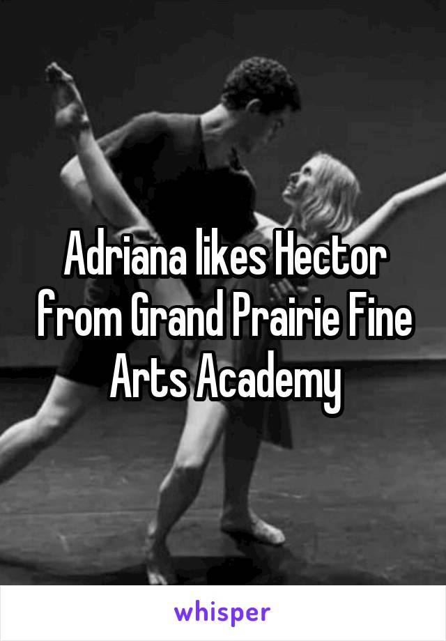 Adriana likes Hector from Grand Prairie Fine Arts Academy