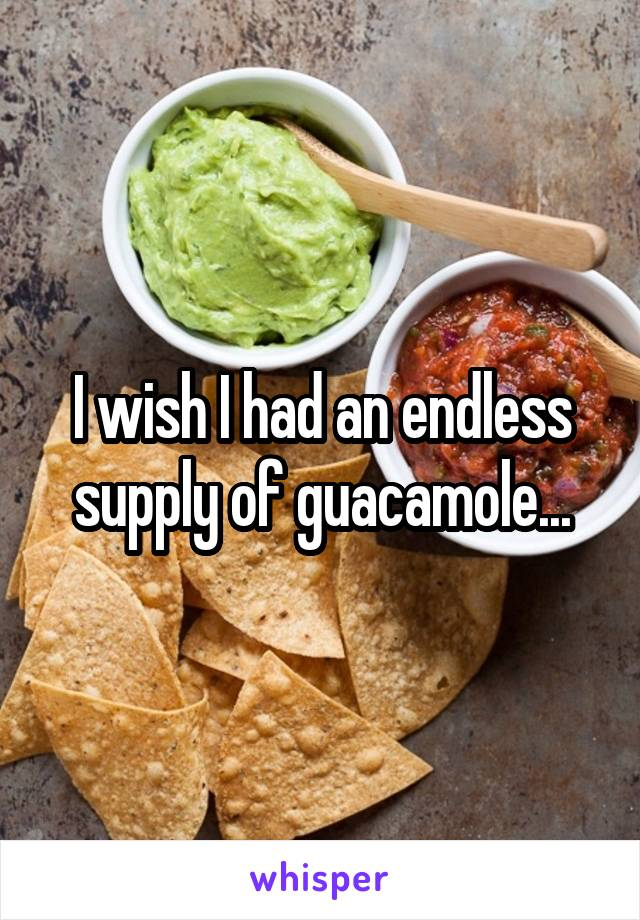 I wish I had an endless supply of guacamole...