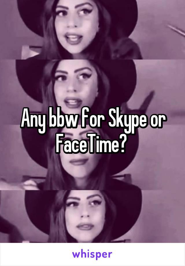Bbw wife on skype