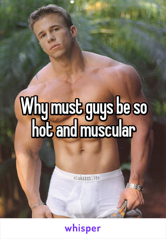 Why must guys be so hot and muscular