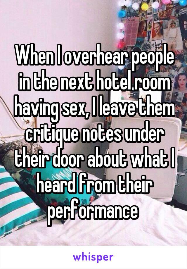 Next door motel room sex