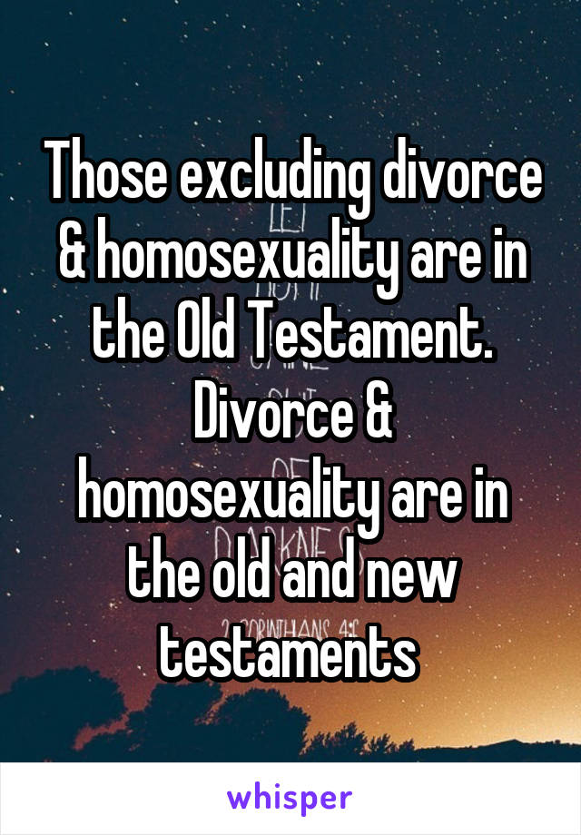 Homosexuality in the old testament