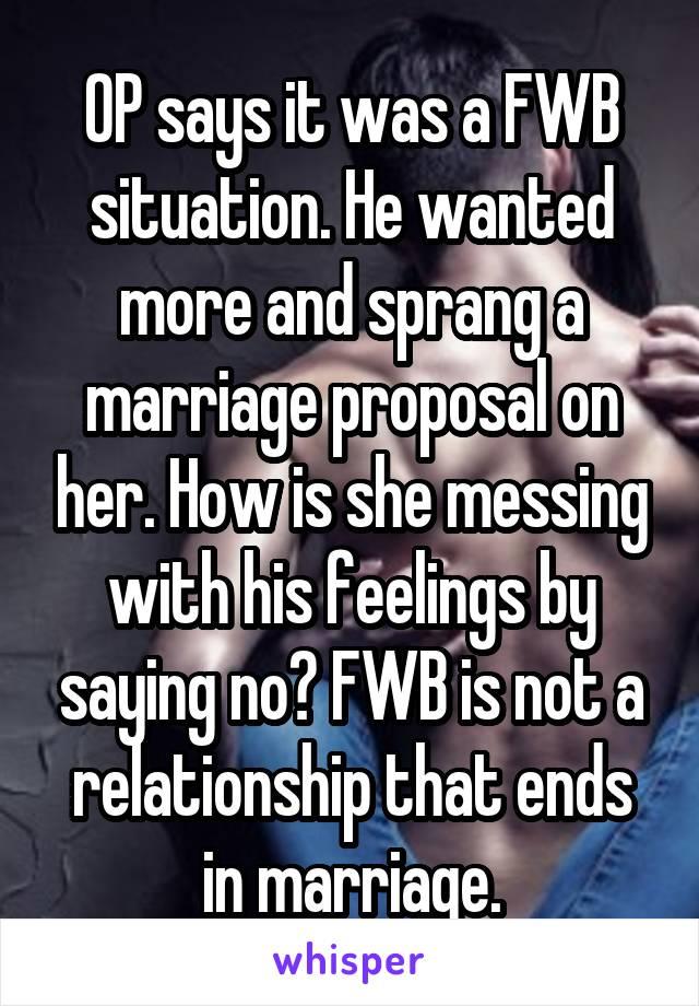 Fwb situation